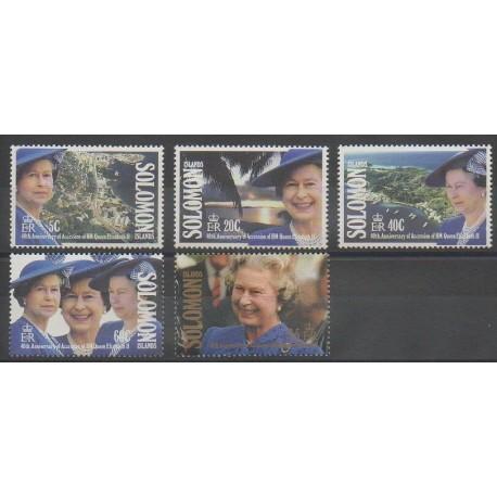 Salomon (Iles) - 1992 - No 734/738 - Royauté - Principauté