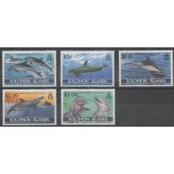 Salomon (Iles) - 1994 - No 808/812 - Vie marine - Mammifères