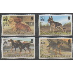 Salomon (Iles) - 1994 - No 804/807 - Chiens
