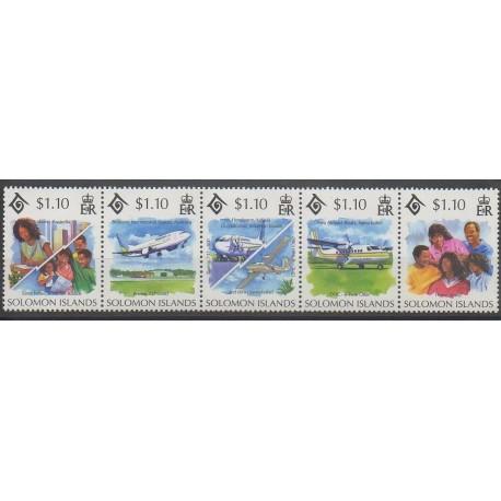 Salomon (Iles) - 1994 - No 822/826 - Aviation