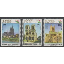 Togo - 1980 - No PA436/PA438 - Églises