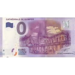 Billet souvenir - Cathédrale de Quimper - 2016