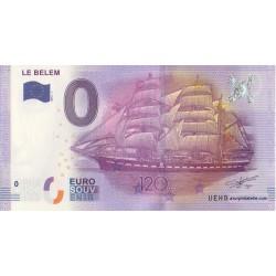 Billet souvenir - Le Belem - 120 ans - 2016