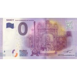 Euro banknote memory - 54 - Nancy - Place Stanislas et art nouveau - 2016