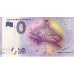 Billet souvenir - Aquarium de la Rochelle - 2016