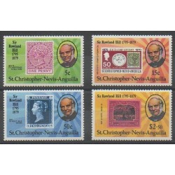 Saint-Christophe - 1979 - Nb 408/411 - Stamps on stamps