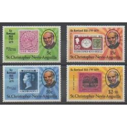 Saint-Christophe - 1979 - No 408/411 - Timbres sur timbres