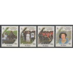 Saint-Christophe - 1986 - No 609/612 - Royauté - Principauté - Nations unies