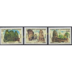 Stamps - Theme various monuments - Cambodia - 2001 - Nb 1835/1837