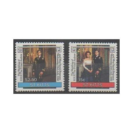 Saint-Christophe - 1986 - No 604/605 - Royauté - Principauté