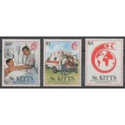 Saint-Christophe - 1989 - No 679/681 - Santé ou Croix-Rouge