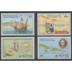 Saint-Christophe - 1989 - No 692/695 - Christophe Colomb