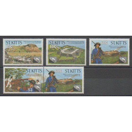 Saint-Christophe - 1990 - No 708/712 - Histoire militaire