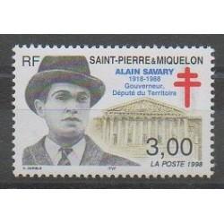 Saint-Pierre et Miquelon - 1998 - No 669 - Célébrités