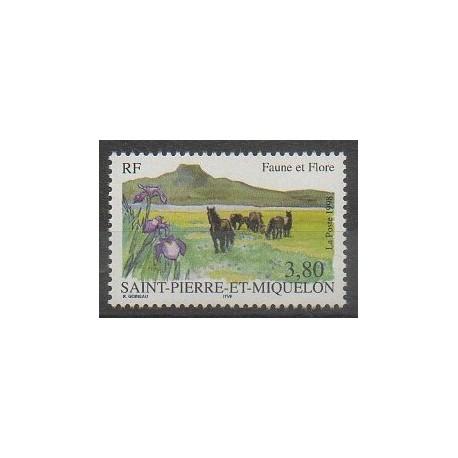 Saint-Pierre et Miquelon - 1998 - No 671 - Chevaux