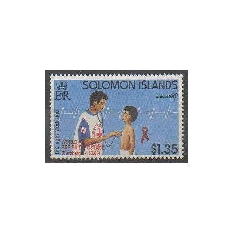 Salomon (Iles) - 2003 - No 1013 - Santé ou Croix-Rouge - Enfance