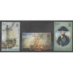 Salomon (Iles) - 2005 - No 1161/1163 - Histoire militaire - Navigation