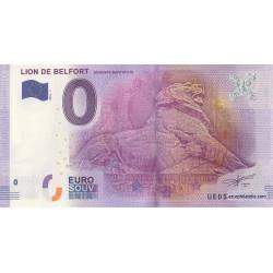 Billet souvenir - Lion de Belfort - Auguste Bartholdi - 2016