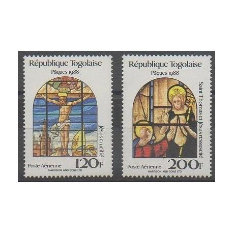 Togo - 1988 - No PA649/PA650 - Pâques
