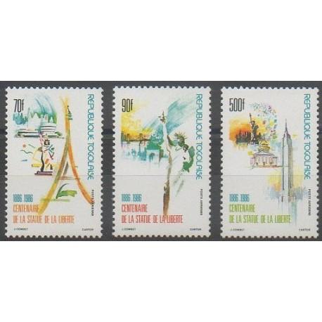 Togo - 1986 - No PA591A/PA593 - Monuments