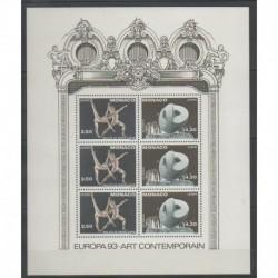 Monaco - Blocs et feuillets - 1993 - No BF61 - Art - Europa
