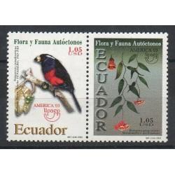 Équateur - 2003- No 1769/1770 - Oiseaux