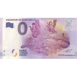 Euro banknote memory - 35 - Aquarium de Saint-Malo - 2017-2