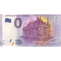 Billet souvenir - Château d'Azay-le-Rideau - 2017
