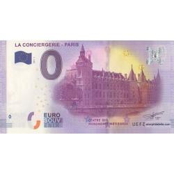 Billet souvenir - La Conciergerie - Paris - 2017