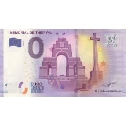 Billet souvenir - Mémorial de Thiepval - 2017