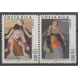 Costa Rica - 1995 - No 594/595 - Peinture - Philatélie