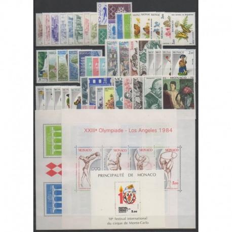 Monaco - Année complète - 1984 - No 1404/1455 - BF27/BF29