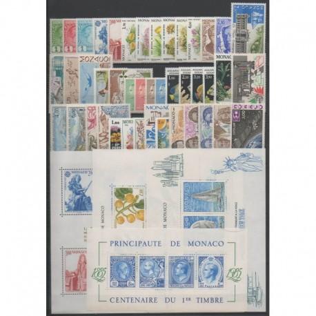 Monaco - Année complète - 1985 - No 1456/1505 - BF30/BF33
