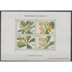 Monaco - Blocs et feuillets - 1985 - No BF31 - Fleurs - Fruits ou légumes