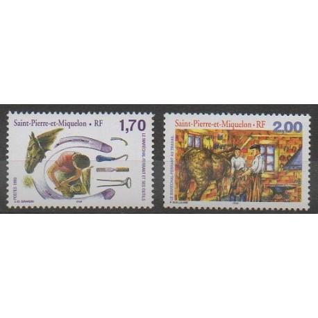 Saint-Pierre et Miquelon - 1999 - No 689/690 - Artisanat ou métiers
