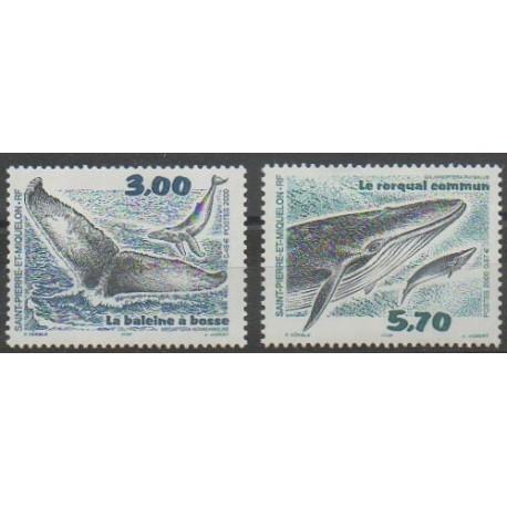 Saint-Pierre et Miquelon - 2000 - No 707/708 - Mammifères - Vie marine