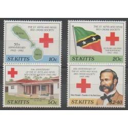 Saint-Christophe - 1992 - No 756/759 - Santé ou Croix-Rouge