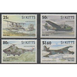 Saint-Christophe - 1993 - Nb 770/773 - Military history - Planes - Helicopters
