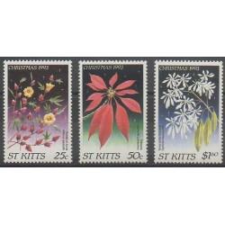 Saint-Christophe - 1993 - No 787/789 - Noël - Fleurs