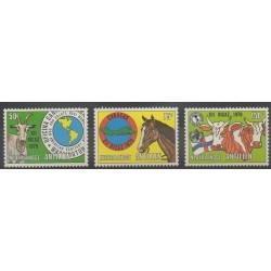 Antilles néerlandaises - 1979 - No 575/577 - Mammifères
