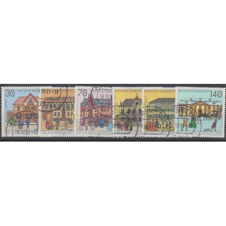 Allemagne - 1991 - No 1395/1400 - Monuments - Oblitéré