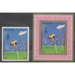 Yemen - Arab Republic - 1982 - Nb PA197 et BI - Summer Olympics