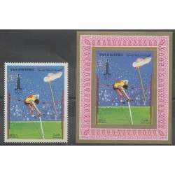 Yémen - République arabe - 1982 - No PA197 et BI - Jeux Olympiques d'été