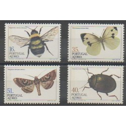 Portugal (Azores) - 1984 - Nb 354/357 - Insects