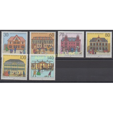 Allemagne - 1991 - No 1395/1400 - Monuments