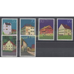 Liechtenstein - 1978 - Nb 633/638 - Monuments