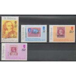 Sainte-Hélène - 1979 - No 316/319 - Timbres sur timbres - Philatélie