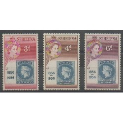 St. Helena - 1955 - Nb 135/137 - Stamps on stamps