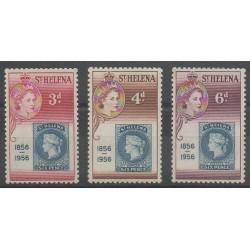 Sainte-Hélène - 1955 - No 135/137 - Timbres sur timbres