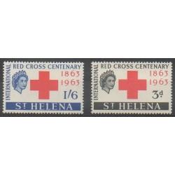Sainte-Hélène - 1963 - No 160/161 - Santé ou Croix-Rouge - Neufs avec charnière